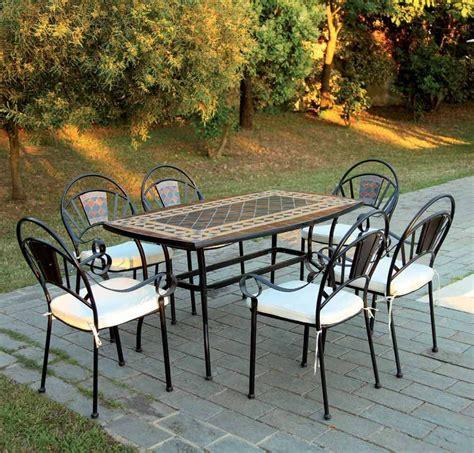 tavoli in ferro battuto da esterno tavoli in ferro battuto foto 10 40 design mag