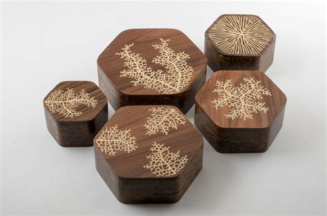Experiments With Generative Wood Inlay Nervous System