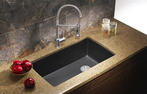 black granite undermount kitchen sinks ecosus granite composite kitchen sink single bowl
