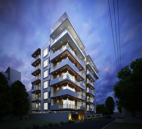 architectural home design by las architects category apartments type exterior apartment architecture design at mysore karnataka