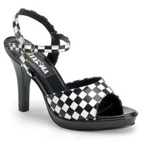 add some with black and white checkered wedding heels