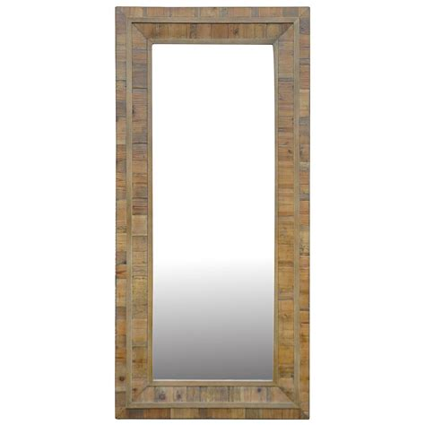 Floor Mirror With Lights by Leopold Rustic Lodge Light Reclaimed Pine Rectangle Floor