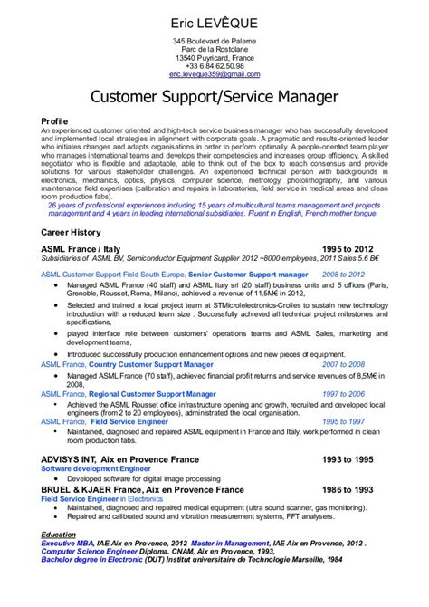 Call Center Representative Resume Samples by Customer Service Manager Profile Resume