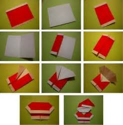 Origami Santa - wonderful diy mini origami santa