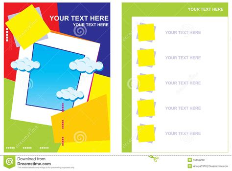 book layout cost per page page layout of the booklet stock vector image of list