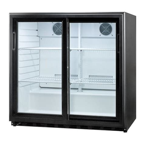 commercial refrigerator sliding glass doors summit appliance 6 5 cu ft sliding glass door all