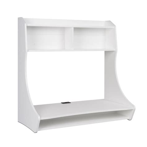 compact hanging desk white