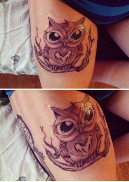 owl tattoo breast best 25 owl thigh tattoos ideas on pinterest breast