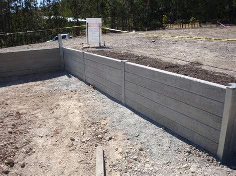 Concrete Sleeper Retaining Wall Design by Australian Retaining Walls Concrete Sleeper Retaining