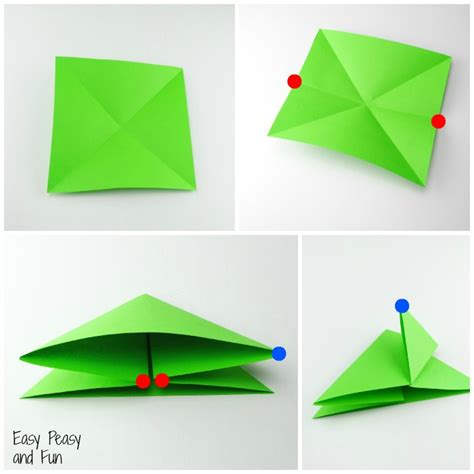 Origami Tutorial Easy - free coloring pages origami frogs tutorial origami for