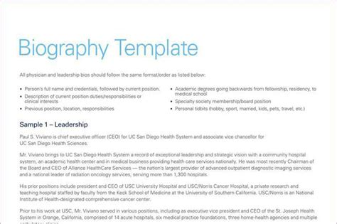 biography exle template resume template download free premium templates forms