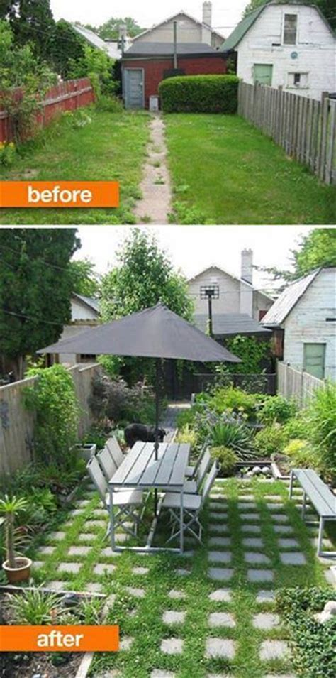 backyard makeover before and after before and after backyard makeover jardinage pinterest