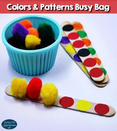Color Sort Busy Activity For Children 365 Days Of Crafts - 1000 ideas about center preschool on a