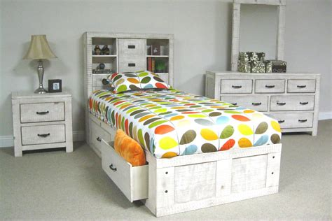white captains bed white twin captains bed at gardner white