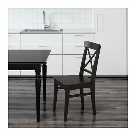 ikea ingolf bench ingolf chair brown black ikea