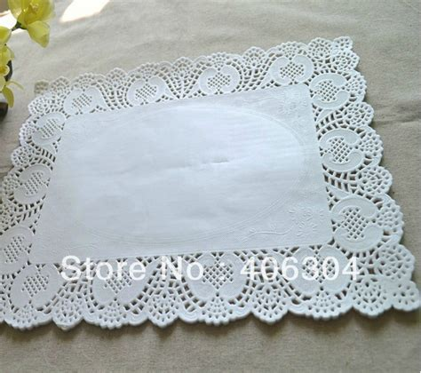 How To Make Paper Lace Doilies - free shipping rectangle white paper doilies 25cm 35cm