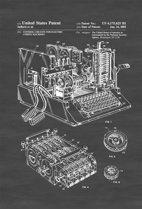 Enigma Machine Patent – Patent Print, Wall Decor, Spycraft