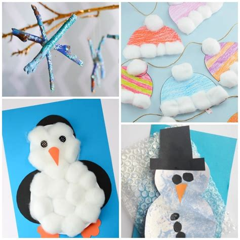 free easy crafts for preschoolers simple winter crafts for toddlers easy peasy and