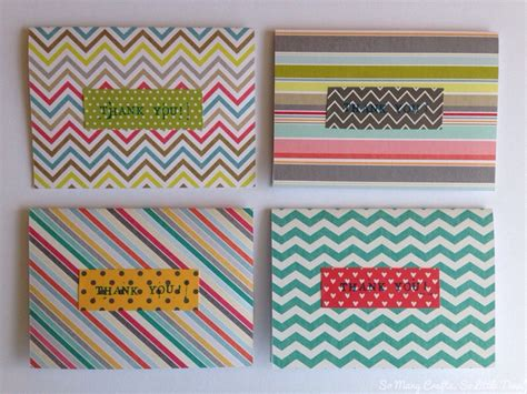 What To Make With Scrapbook Paper - scrapbook paper thank you cards hello hooray