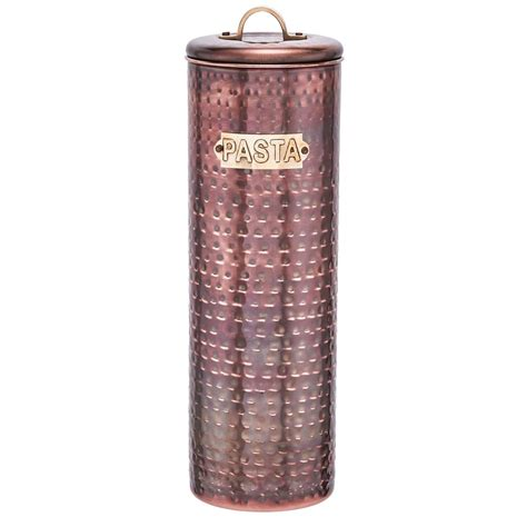 hammered copper canister 4 pack by old dutch fab com old dutch 12 in hammered antique copper pasta canister