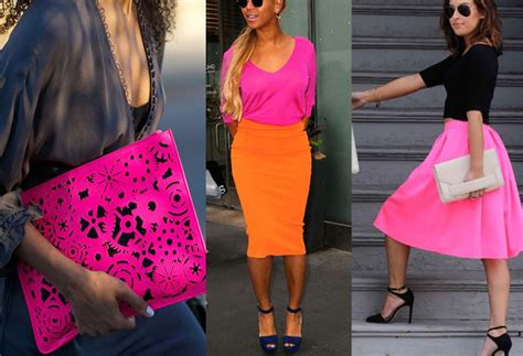 what colour goes with pink colors that go with neon pink clothes outfit ideas