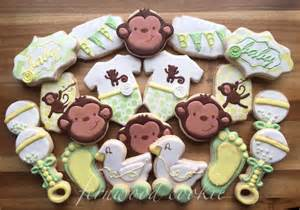 Monkey Cookie Cutter Baby Shower by Monkey Baby Shower Cookie Connection