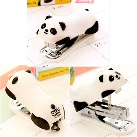 Stepler Panda panda mini desktop stapler staple stapler office home stapler a040 in stapler from