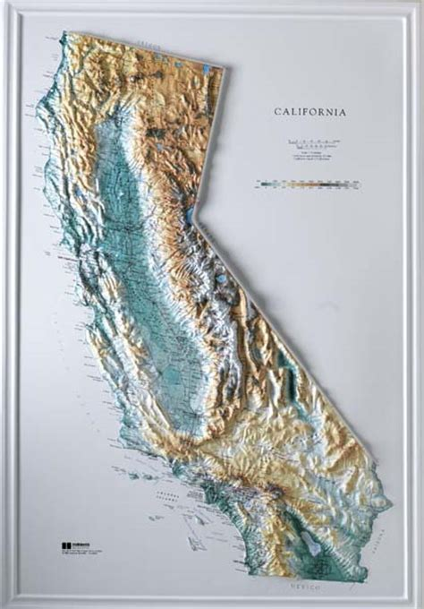 topo map of california raised relief maps 3d topographic map us state series