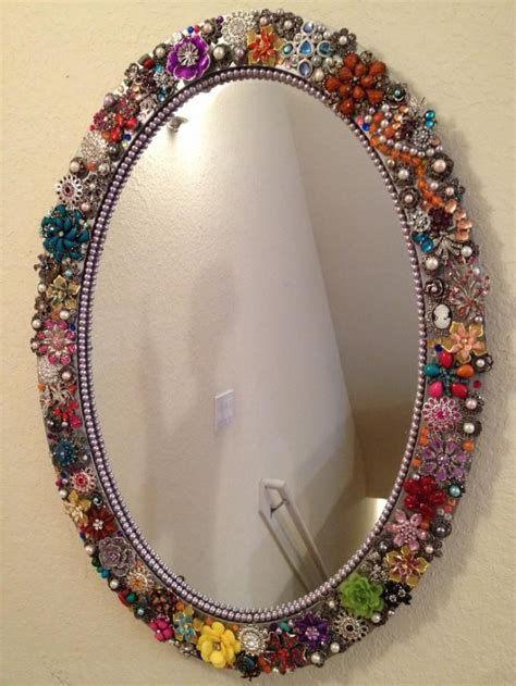 mirror craft projects beaded mirror jewelry craft ideas crafts