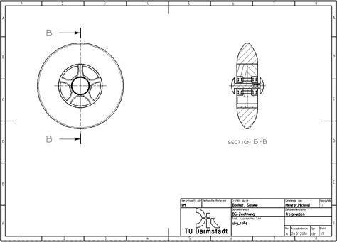 schnitt technische zeichnung 7 2 1 1 ableiten einfacher schnittansichten