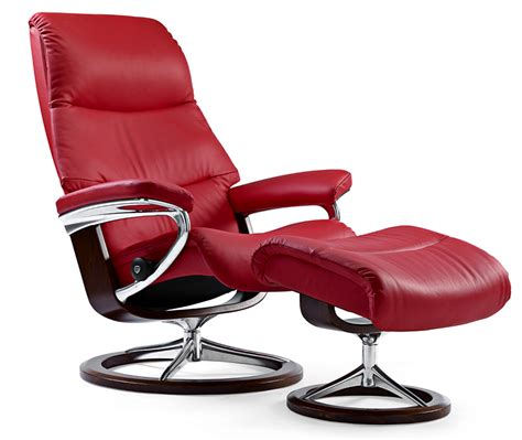 ekornes stressless recliners stressless view signature base recliner and ottoman by