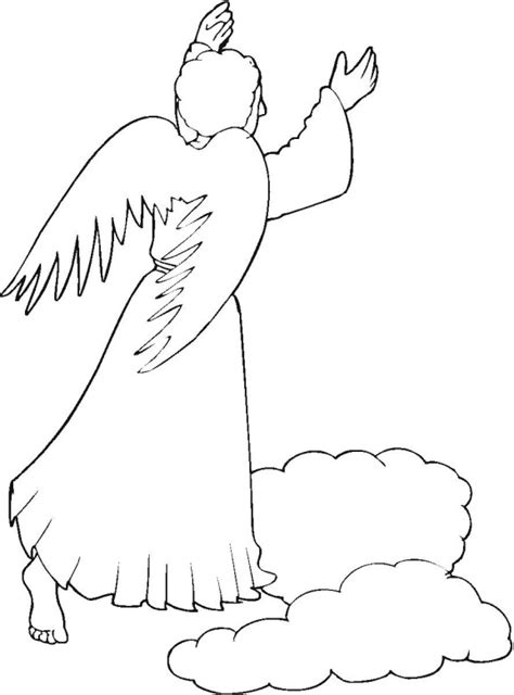angels shepherds gloria coloring page thecahtolickid free coloring pages of angel and shepherd coloring page