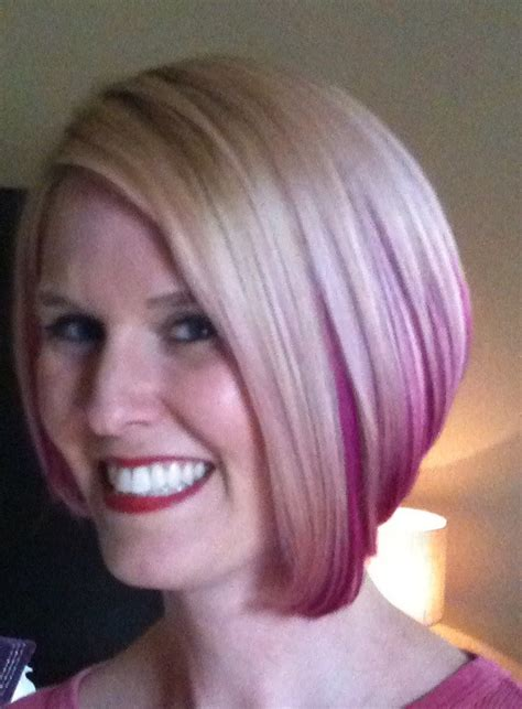 pink platinum blond streaks on short hair great dye tips ombr 233 highlight colors for different color