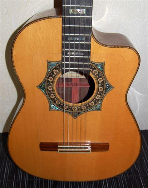 Handmade Classical Guitars Uk - 2001 luthier jorge pasaye unique handmade custom cutaway
