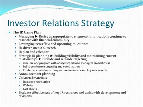 the handbook of financial communication and investor relations handbooks in communication and media books spindle communications investor relations agency