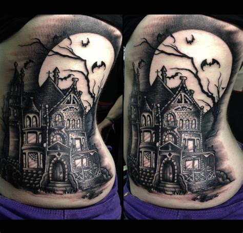 house of tattoo 45 best haunted house tattoos