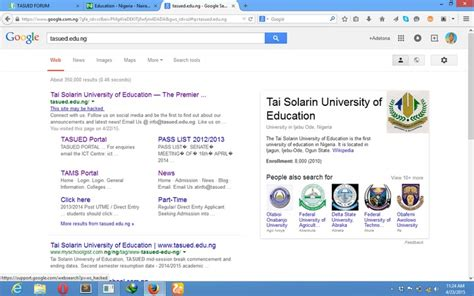 Unilag Mba Website by Tasued Website Hacked Education Nigeria