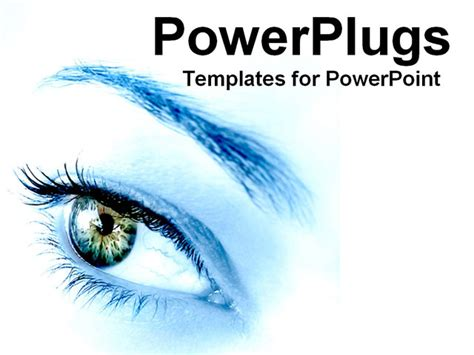 powerpoint templates free eye powerpoint template blue woman s eye envisioning future