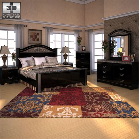 3d bedroom sets ashley constellations poster bedroom set 3d model hum3d