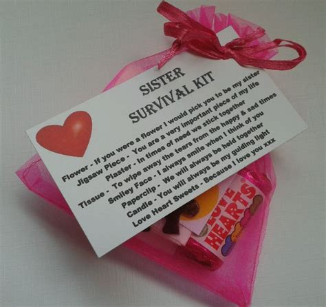 sister sister s survival kit keepsake for birthday