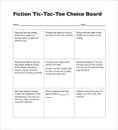 tic tac toe template for teachers tic tac toe sle 19 exle format