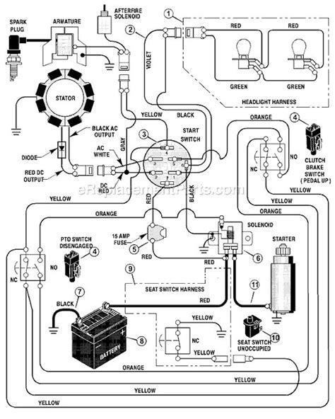 mtd lawn mower wiring diagram lawn tractor tractors