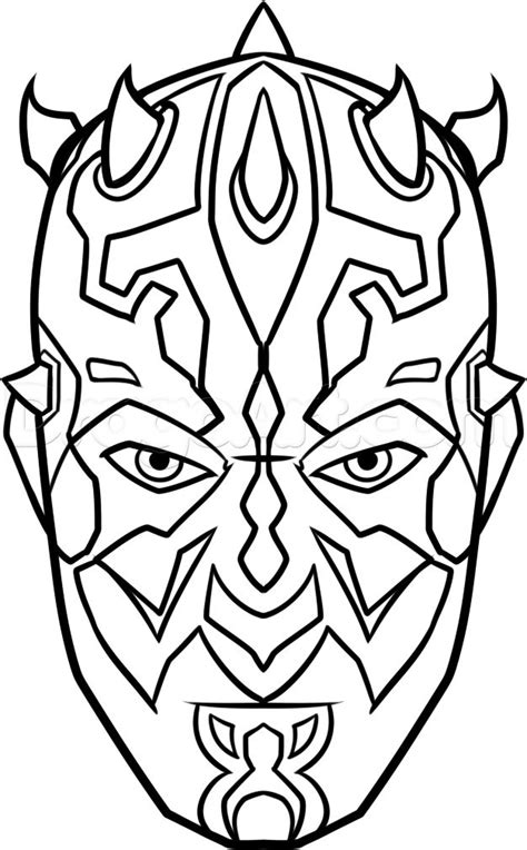 coloring pages darth maul how to draw darth maul easy step 8 how