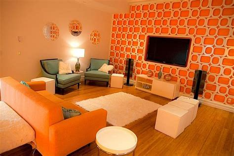 Orange Living Room Ideas Bright And Orange Room Design