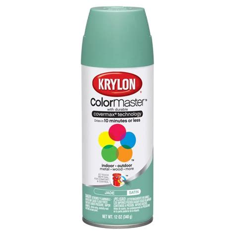 krylon colormaster jade satin spray paint other home improvement walmart