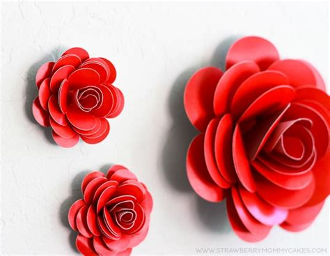 How To Make Roses Out Of Paper Easy - how to make easy paper roses printable crush