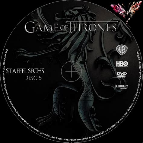 game of thrones season 6 volume 1 2016 r0 custom cover labels game of thrones staffel 6 dvd cover label 2016 r2