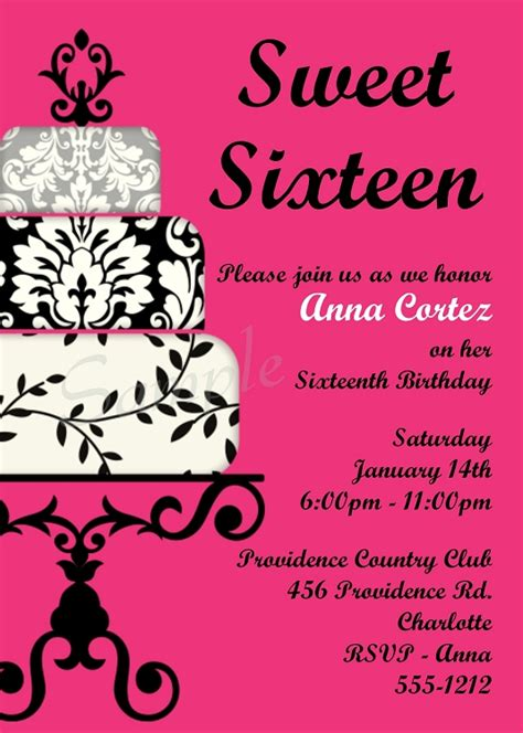 Sweet Sixteen Invitations Templates Sweet 16 Party Invitations Theruntime Com