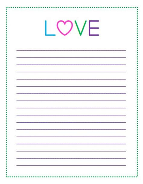 s day lined paper template card free printable s day to do lists printable