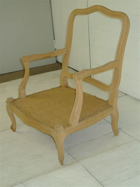 louis xv provincial style oak chair frame ready for